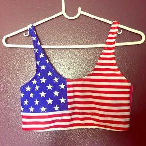 American Flag Bikini Top